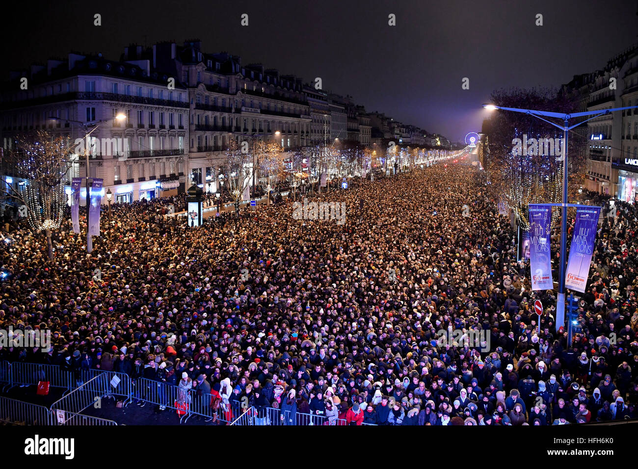 Paris  France  1st Jan  2017  People attend New Year celebration on     Paris  France  1st Jan  2017  People attend New Year celebration on Stock  Photo  130070836   Alamy