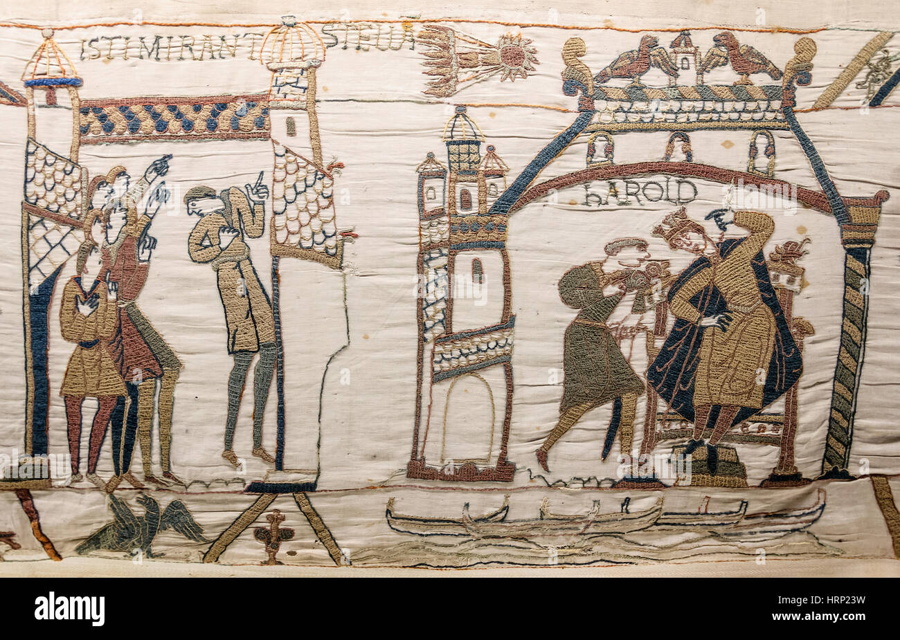 Halley's Comet of 1066, Bayeux Tapestry Stock Photo