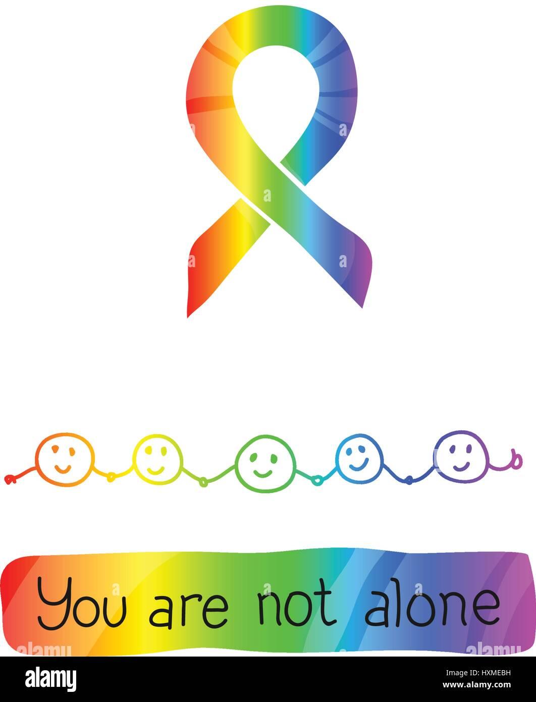 World Autism Awareness Day April 2 Rainbow Color