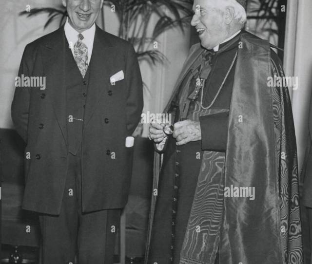 Governor Alfred E Smith At A 1920s Catholic Charities Drive With Cardinal Patrick Hayes Anti Catholic Prejudice Was One Factor In His Defeat As The