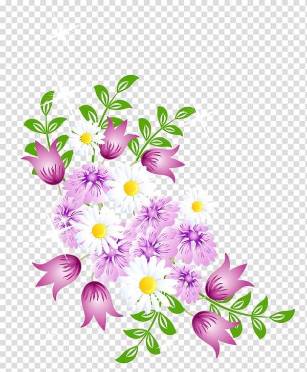 Цветок, Весенние цветы Декор, белый и розовый цветок PNG ...