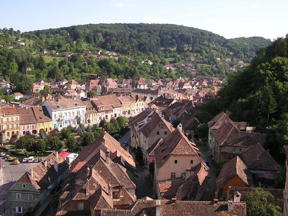 Sighisoara ciudad medieval fortificada Rumania 08