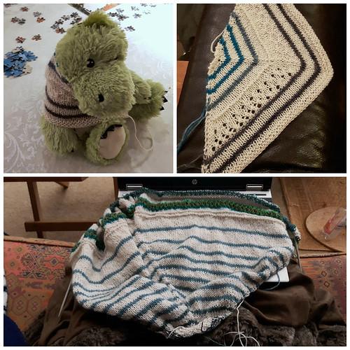 shawl swatching