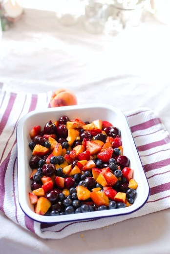 Coconut Flour Summer Fruit Crisp