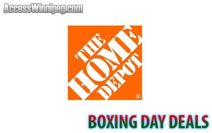 Home Depot Boxing Day Deals 2017