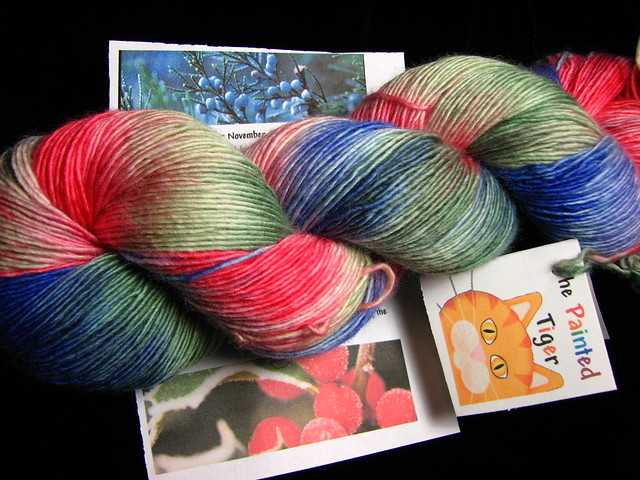 Winter Berries - Nov 2016 Tiger Club - Super Single Sock