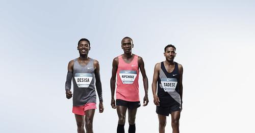 Los atletas Lelisa Desisa, Eliud Kipchoge y Zersenay Tadese listos para el desafío de Breaking2_Nike News