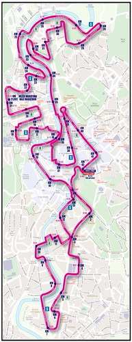 Rome Marathon Course Map