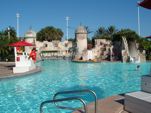 Pool at Walt Disney World Caribbean Beach Club Resort
