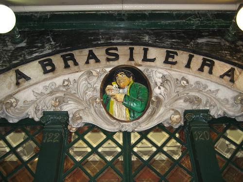 Café A Brasileira. ViajerosAlBlog.com.