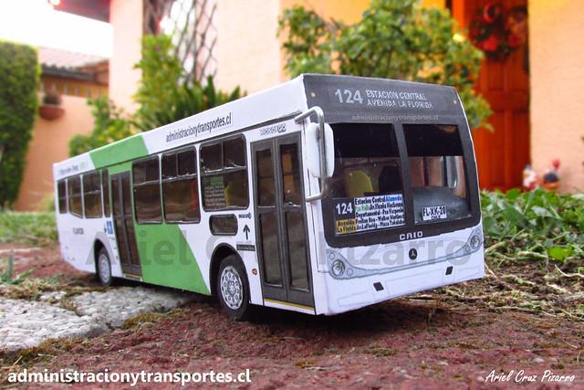 Bus B2P Transantiago | Caio Mondego H 13.2 - Mercedes Benz / FLXK28