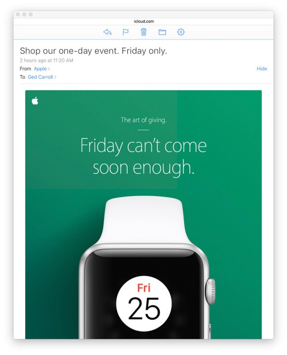 Black Friday Desktop Email