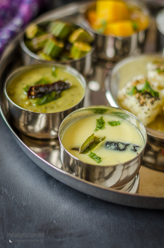 Gujarati Kadhi, Gujarati Food, Indian Food, Kadhi, Buttermilk Curry,