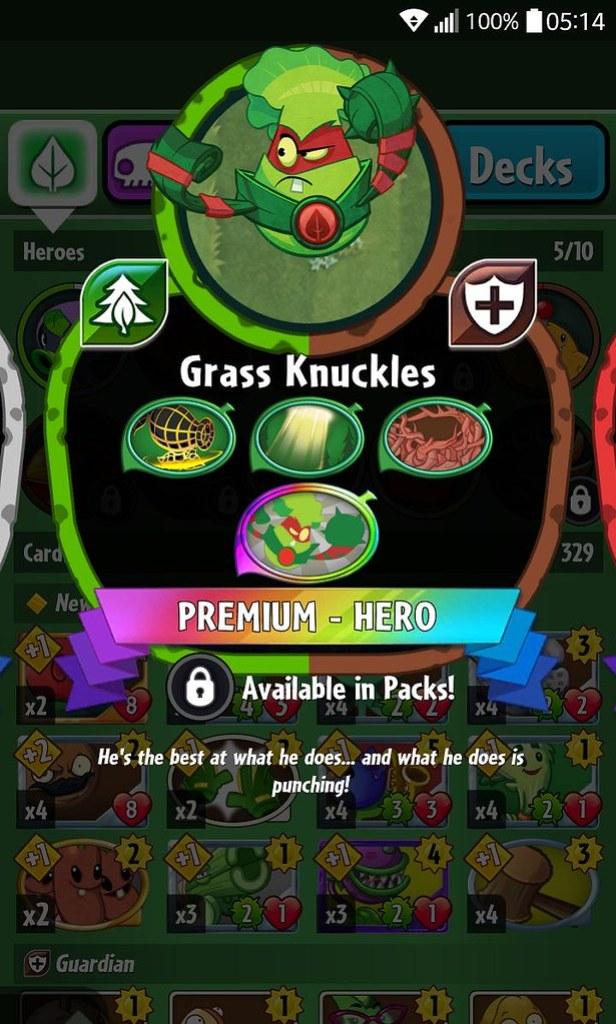 plant hero list grass knuckles