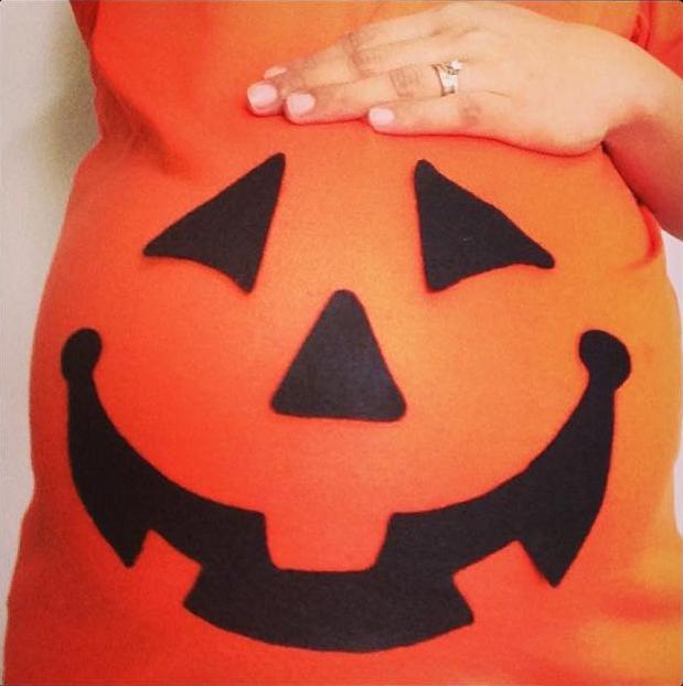 DIY Halloween Costume Mommy Jen Baby Bump