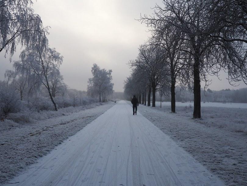 einsamer Fußgänger