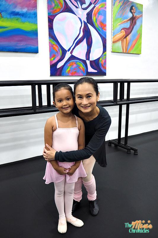 little ballerina with the Prima Ballerina, Lisa Macuja-Elizalde