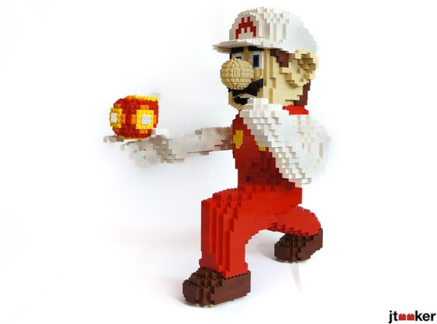 Fire Mario in LEGO