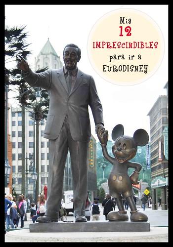 Imprescindibles para ir a EuroDisney. DisneylandParís