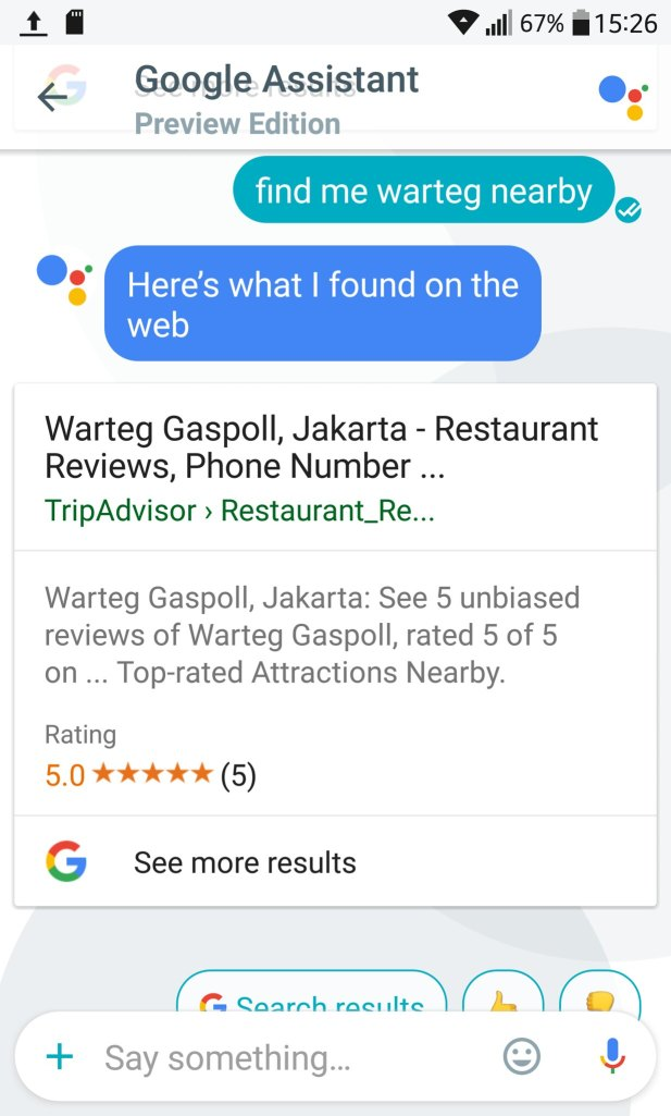 google allo review warteg