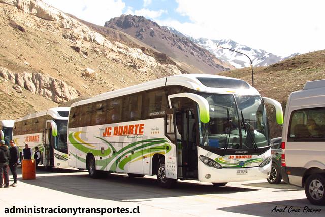 Buses Jc Duarte | Paso Los Libertadores | Mascarello Roma 350 - Mercedes Benz / GYPS91