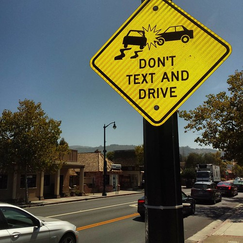 Don't text and drive. Guess where Silicon Valley?