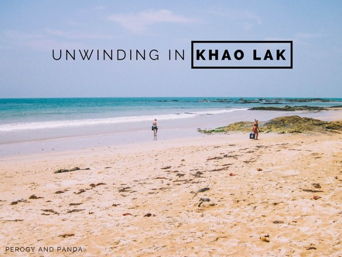 Unwinding in Khao Lak Thailand.  A sleepy town with beautiful black and gold sand beaches.