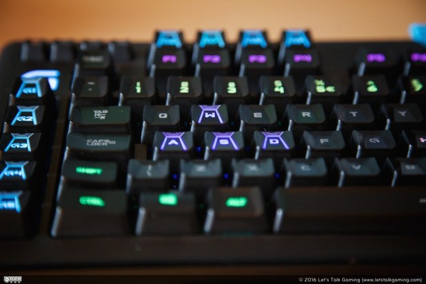 Some keys have a special shape, WASD keys have 3 edges ...