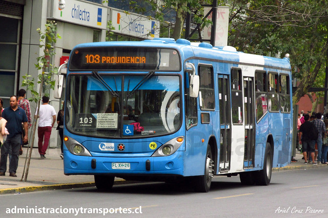Transantiago - 103   Alsacia   Marcopolo Gran Viale - Volvo (Biportal) / FLXH26