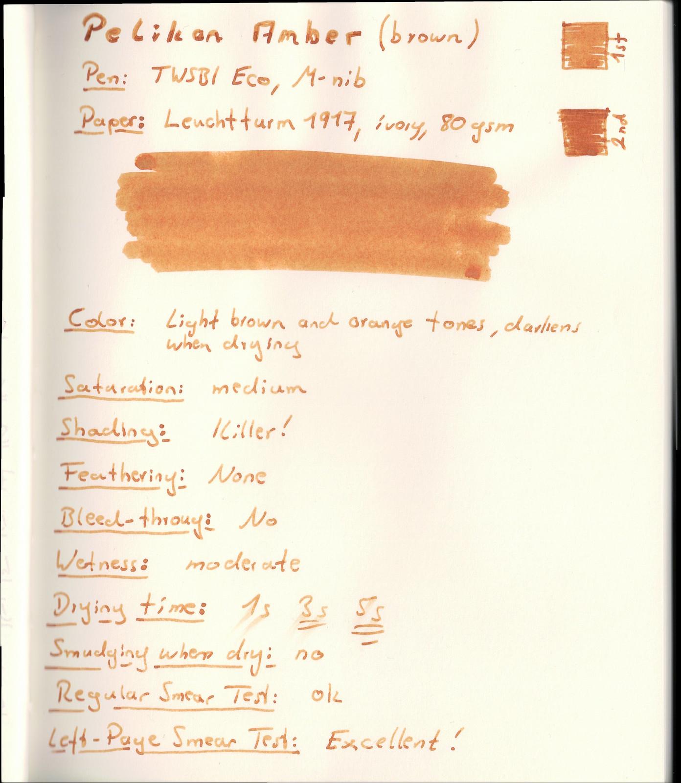 Pelikan Amber on Leuchtturm paper