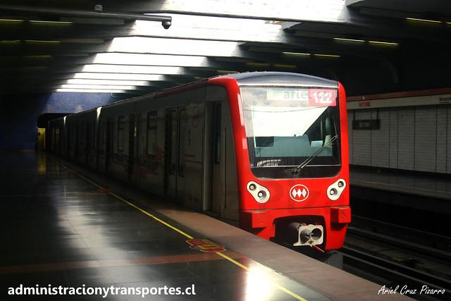 Metro de Santiago   Neptuno (L1)   CAF NS2012 N2122