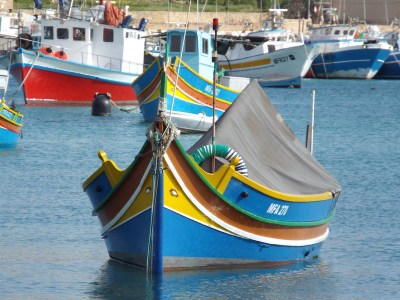 Luzzi at Marsaxlokk Sunday Market, Malta - the tea break project solo female travel blog