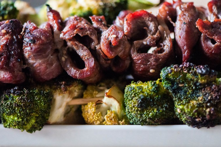 Grilled Beef and Broccoli Skewers 3