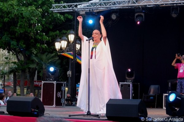Betty Missiego ,Anabel Conde y Marta Sánchez en Torremolinos /Málaga 4-6-2016