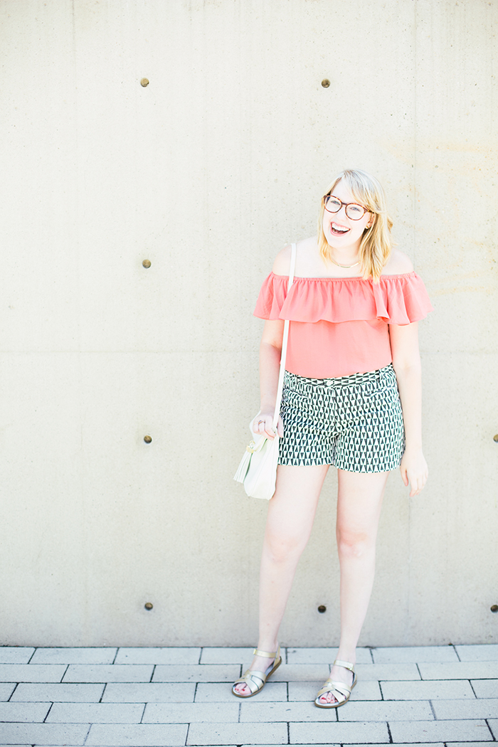 printed shorts OTS blouse2