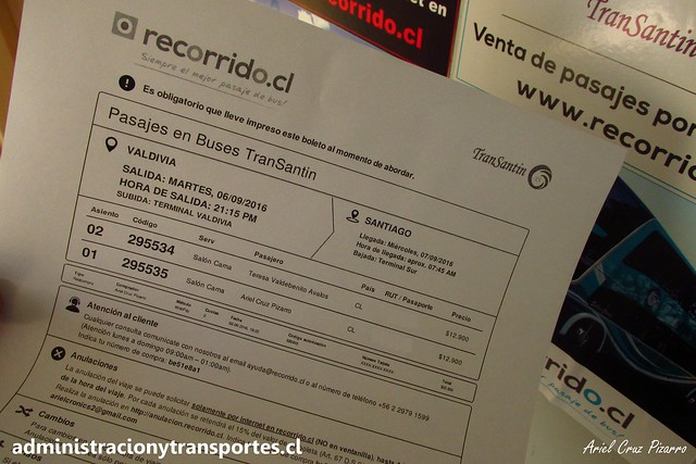 Pasaje Recorrido.cl - Transantin