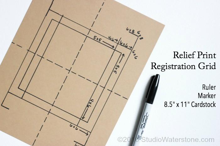 DIY Simple Relief Print Registration