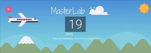 countdown:  19 days to Master Lab 2016