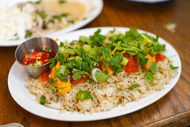 uni garlic fried rice garlic, white pepper, fish sauce, uni, salmon caviar