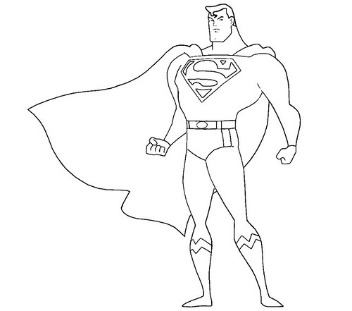 how to draw superman full body