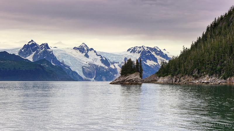 View above Harris Bay to Western Glacier