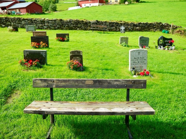Jardin de Hopperstad en Noruega