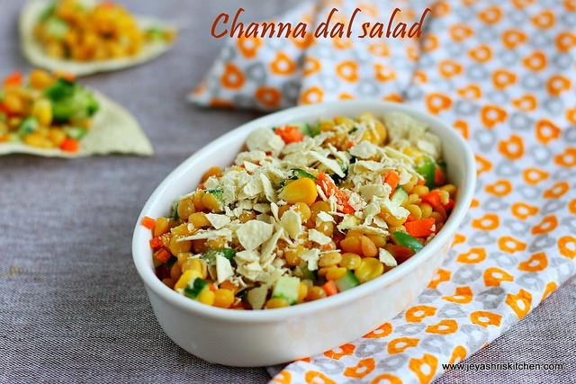 Channa dal salad