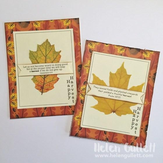 The Cutting Cafe: Fall Frame Cards