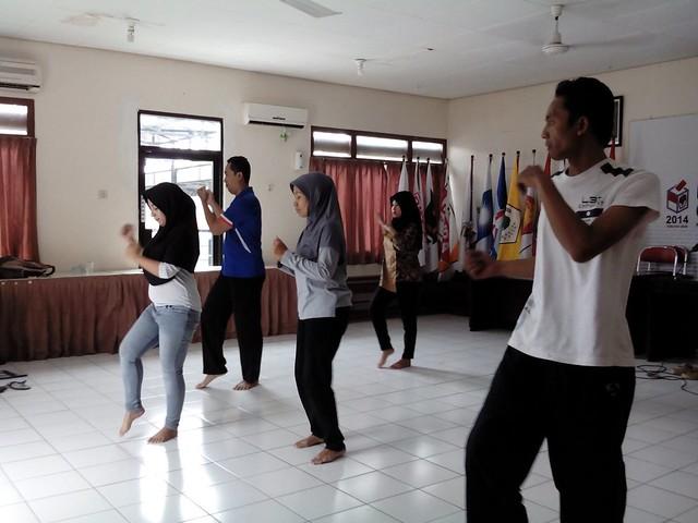 Tim senam KPU Tulungagung terus giat berlatih