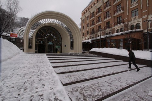 Bottom station of the Kiev Funicular