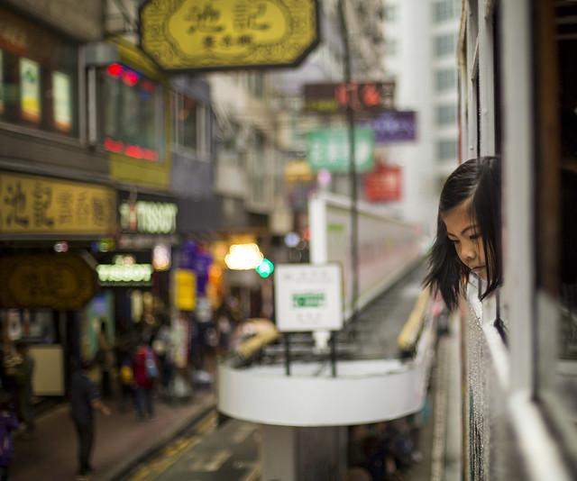 Tram girl, Hong Kong 2