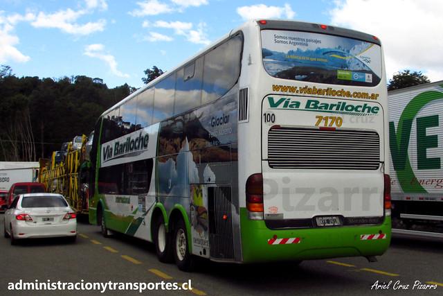 Vía Bariloche | Paso Cardenal Samoré (Chile) | Marcopolo Paradiso 1800 DD - Mercedes Benz / KFE281 - 7170