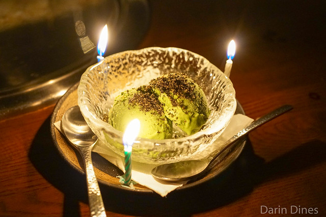 Green Tea Ice Cream black sesame