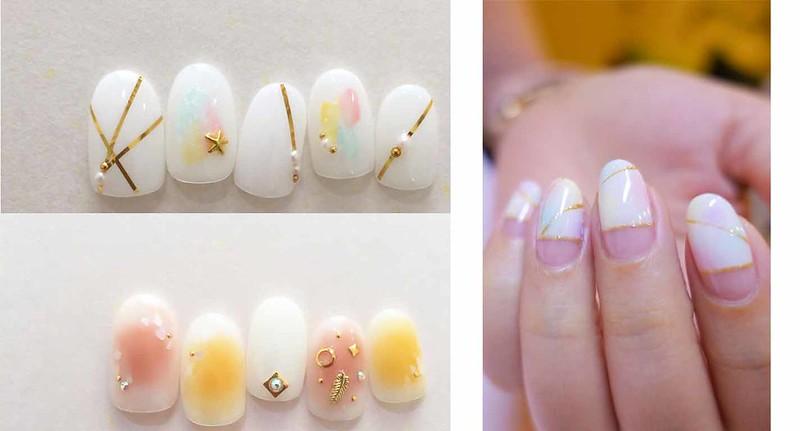 ♥ 白色搭配!簡約純淨的白色指甲 1